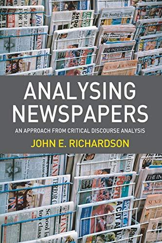 Analysing Newspapers By John Richardson