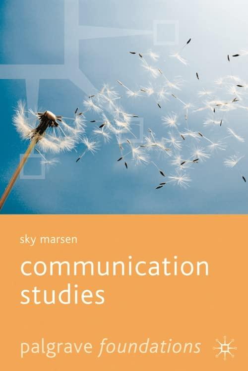 Communication Studies by Sky Marsen