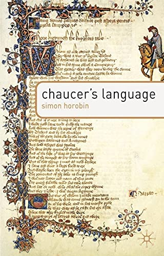 Chaucer's Language By Simon Horobin