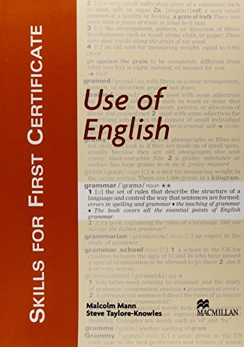 Use of English: Student's Book (Skills for ... by Taylore-Knowles, Ste Paperback