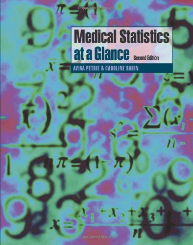 Medical Statistics at a Glance By Aviva Petrie