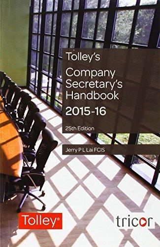 Tolley's Company Secretary's Handbook By Jerry Lai