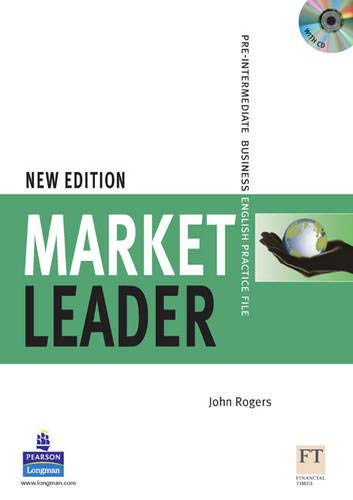 Market Leader Pre-Intermediate Practice File with Audio CD Pack New Edition By John Rogers