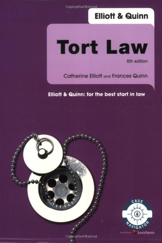 Tort Law by Catherine Elliott