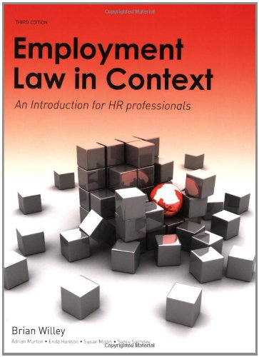 Employment Law in Context, By Brian Willey