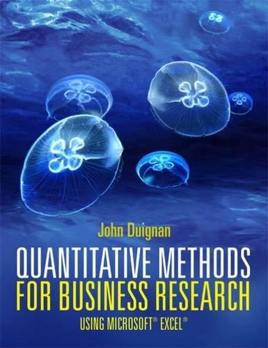 Quantitative Methods For Business Research by John Duignan (University of West Scotland)