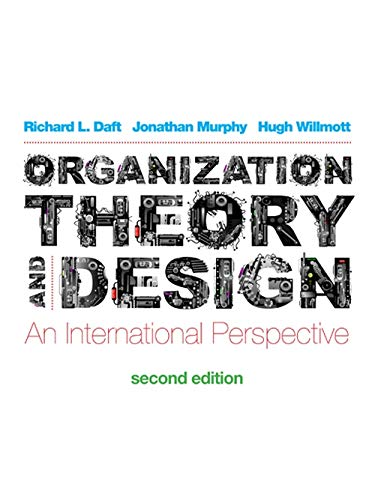 Organization Theory And Design By Jonathan Murphy Used 9781408072370 World Of Books