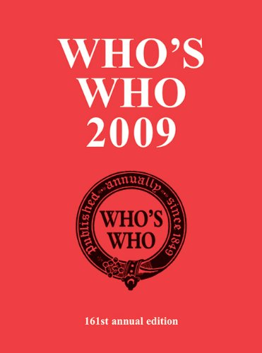 Who's Who 2009 By A & C Black Publishers Ltd