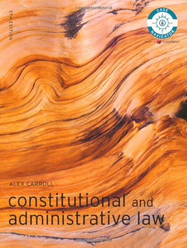 Constitutional and Administrative Law MyLawChamber Pack By Alex Carroll