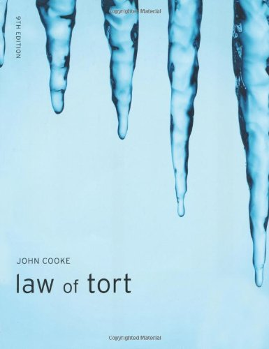Law of Tort MLC Pack By John Cooke