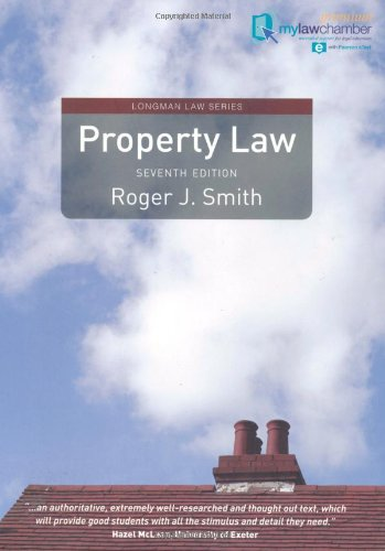 Property Law Premium mylawchamber Pack (Longman Law Series) By Roger J. Smith