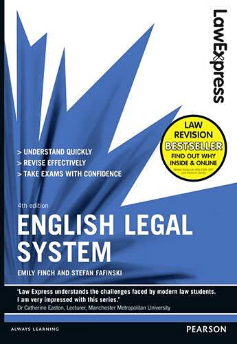 Law Express: English Legal System (Revision Guide) by Emily Finch