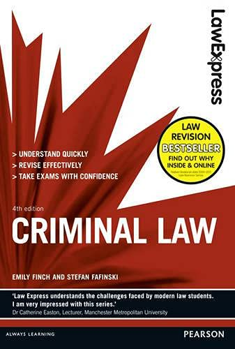 Law Express: Criminal Law (Revision Guide) By Emily Finch