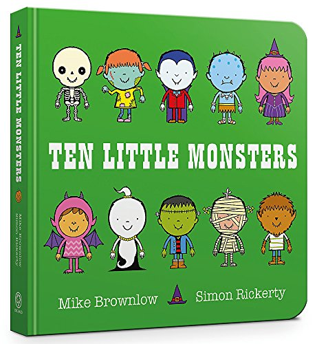 Ten Little Monsters Board Book By Mike Brownlow
