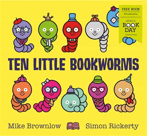 Ten Little Bookworms By Mike Brownlow