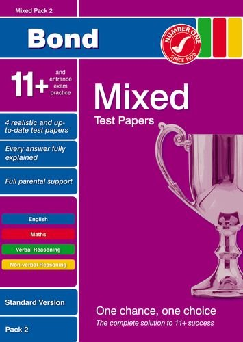 Bond 11+ Test Papers Mixed Pack 2 Standard By Frances Down