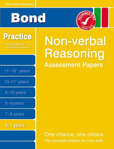 Bond Non-Verbal Reasoning Assessment Papers 6-7 Years By Alison Primrose