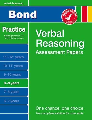 Bond Verbal Reasoning Assessment Papers 8-9 years (Bond Assessme... by Bond, J M