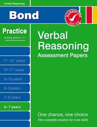 Bond Verbal Reasoning Assessment Papers 6-7 Years By J. M. Bond