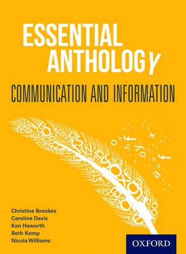 Essential Anthology: Communication and Information Student Book By Christine Brookes