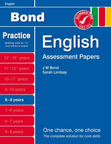 Bond Assessment Papers English 8-9 yrs by Lindsay, Sarah Book The Cheap Fast