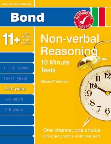 Bond 10 Minute Tests Non-Verbal Reasoning 9-10 yrs by Primrose, Alison Book The
