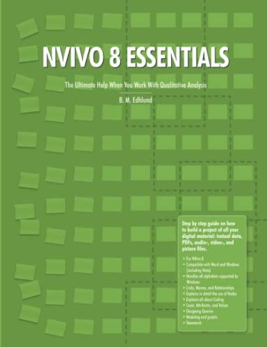 Nvivo 8 Essentials By Bengt Edhlund