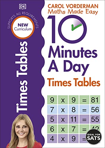 10 Minutes A Day Times Tables (Made Easy Workbooks) By Carol Vorderman