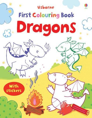 First Colouring Book Dragons with Stickers By Jessica Greenwell
