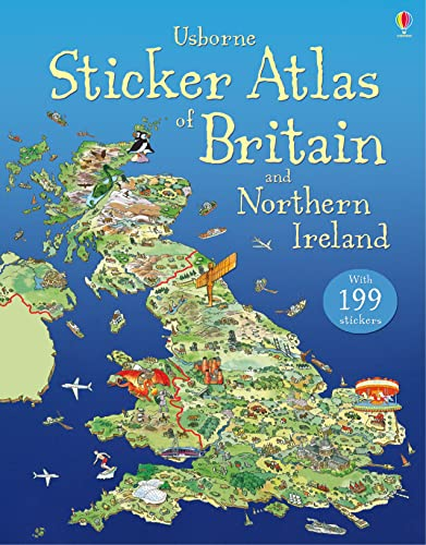 Usborne Sticker Atlas of Britain and Northern Ireland by Stephanie Turnbull