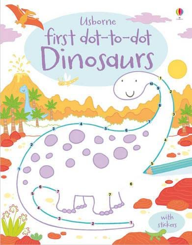First Dot-to-Dot Dinosaurs By Sam Taplin