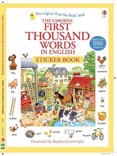 First 1000 Words in English Sticker Book von S (I) Cartwright