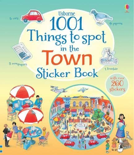 1001 Things to Spot in the Town Sticker Book By Teri Gower
