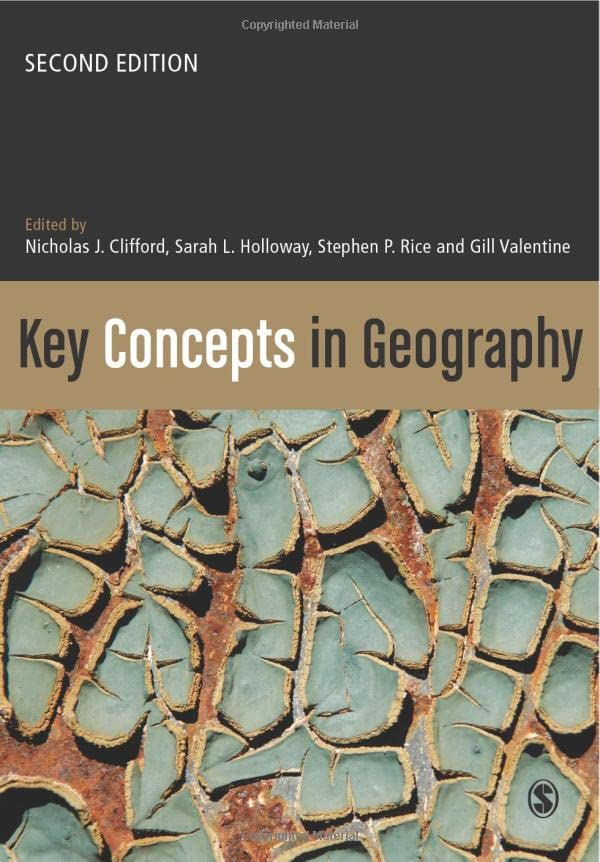 Key Concepts in Geography By Edited by Nicholas R. Clifford