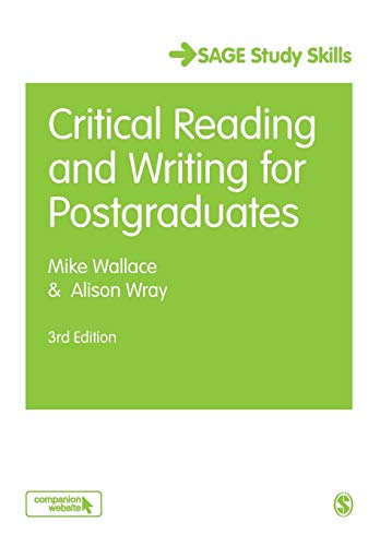 Critical Reading and Writing for Postgraduates (Student Success) By Mike Wallace