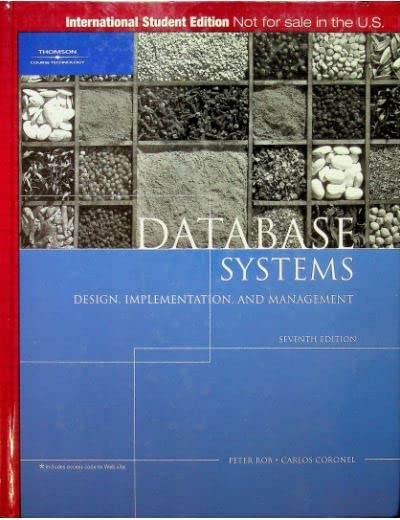Database Systems By Carlos M Coronel