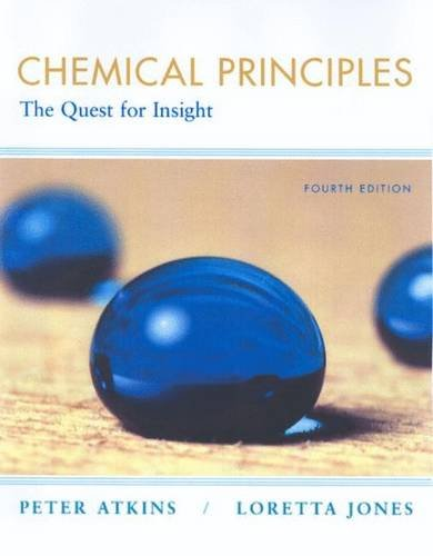 Chemical Principles By Peter W. Atkins
