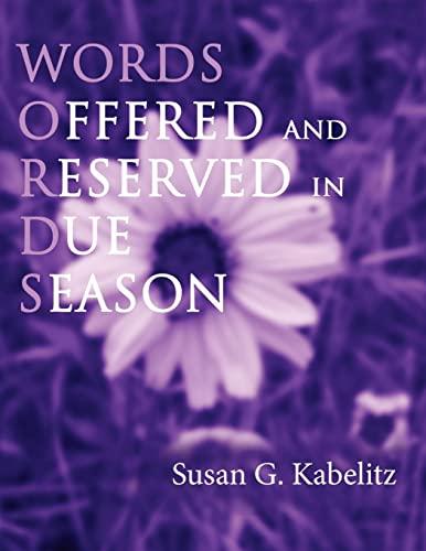 Words By Susan G Kabelitz