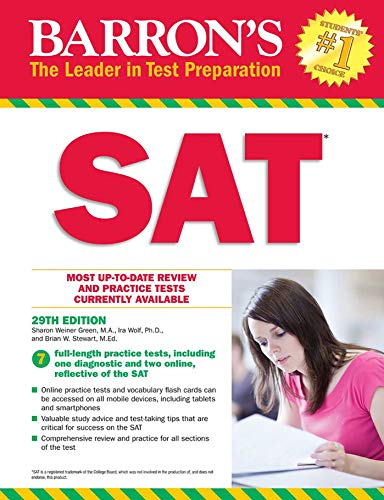 Barron's SAT with Online Tests By Sharon Green