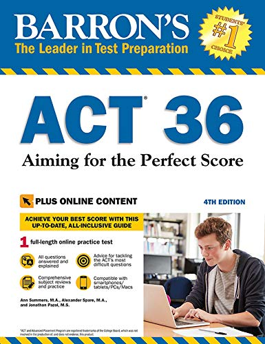 Barron's ACT 36 with Online Test By Alexander Spare