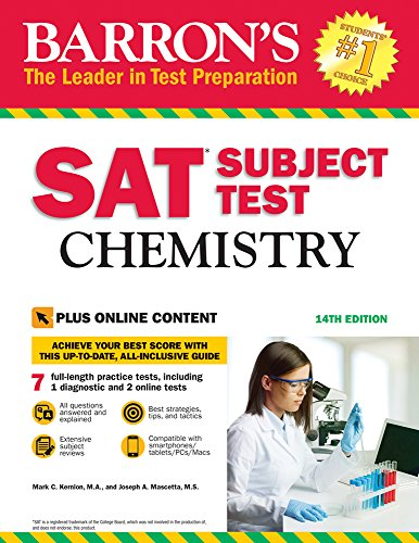 Barron's SAT Subject Test: Chemistry with Online Tests By Joseph A. Mascetta