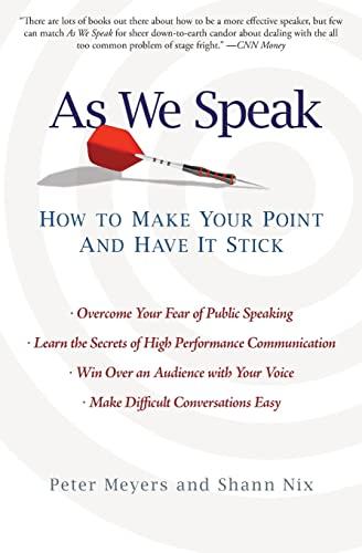 As We Speak By Peter Meyers