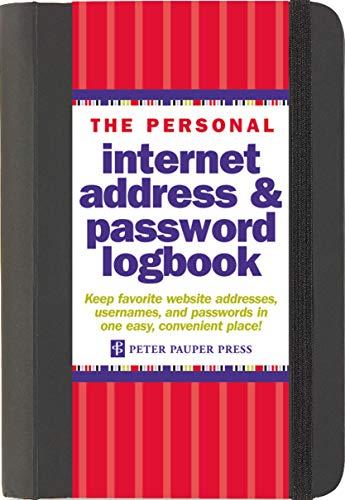 Internet Address Password Log Black by Peter Pauper Press