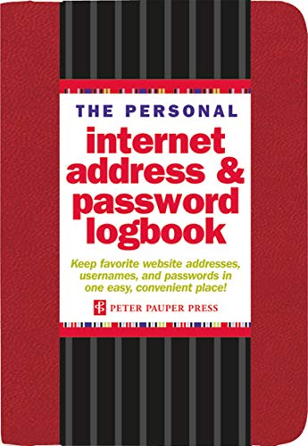 The Personal Internet Address & Password Logbook (Red) By Producer Peter Pauper Press