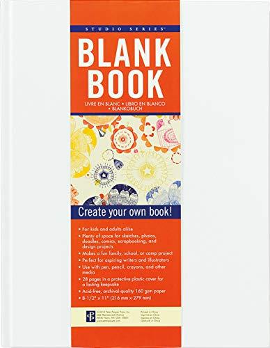 Studio Blank Book White By Inc Peter Pauper Press
