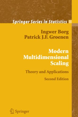Modern Multidimensional Scaling By I. Borg