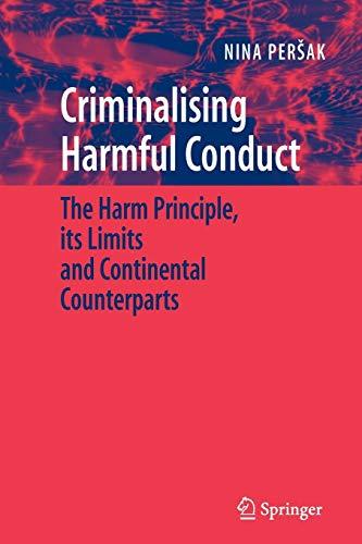 Criminalising Harmful Conduct By Nina Persak