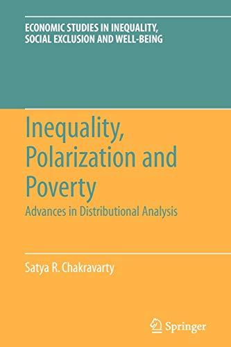 Inequality, Polarization and Poverty By Satya R. Chakravarty