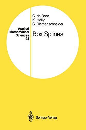Box Splines By Carl de Boor