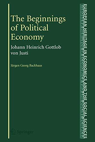 The Beginnings of Political Economy By Jurgen Backhaus